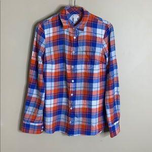 NWT j crew factory plaid flannel button down shirt